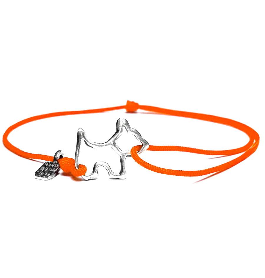 Dog bracelet, sterling silver