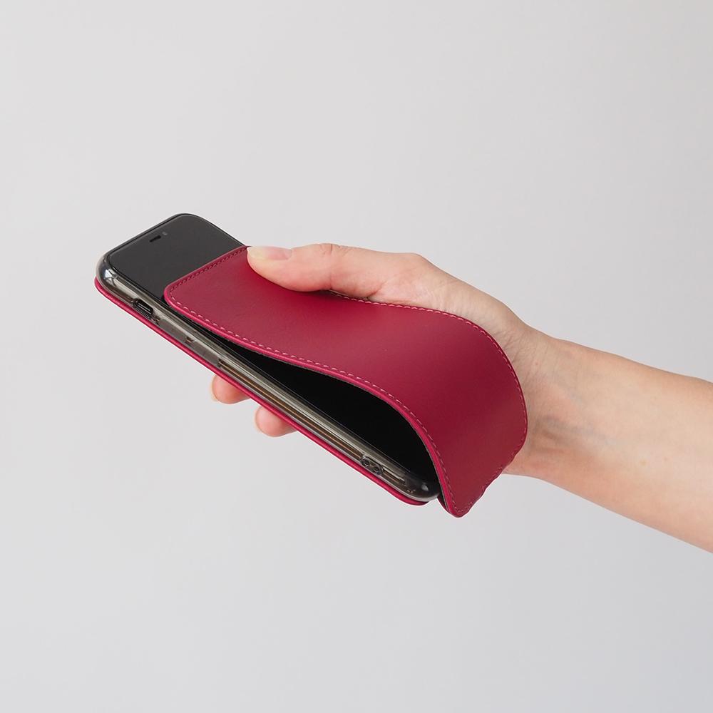 Чехол для iPhone 7 из натуральной кожи теленка, цвета малины