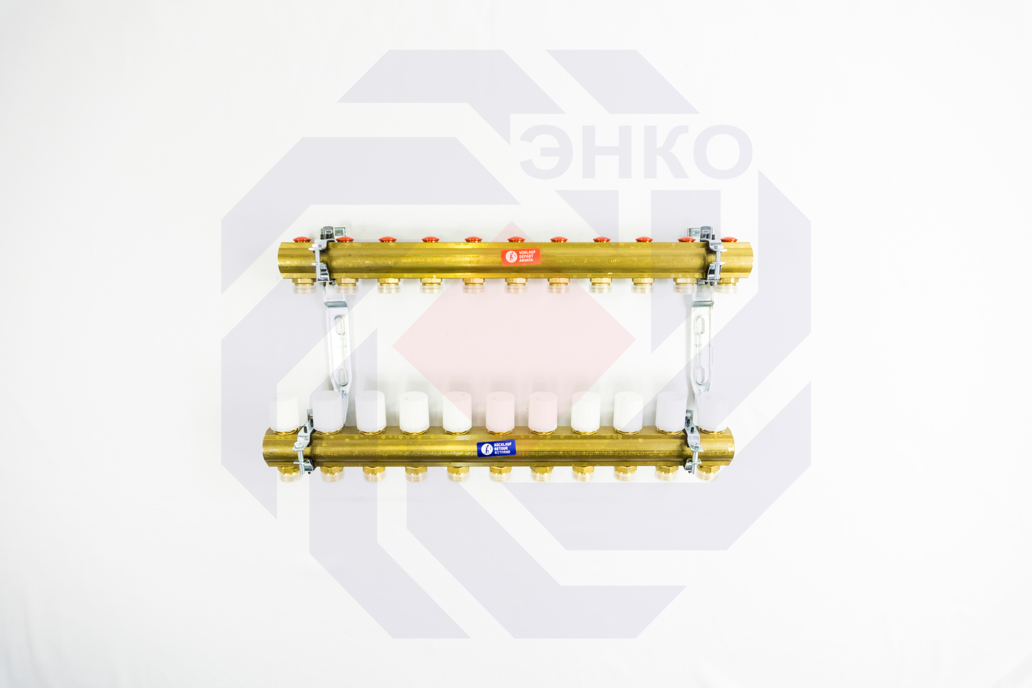 Комплект коллекторов без расходомеров GIACOMINI R553E 11 контуров