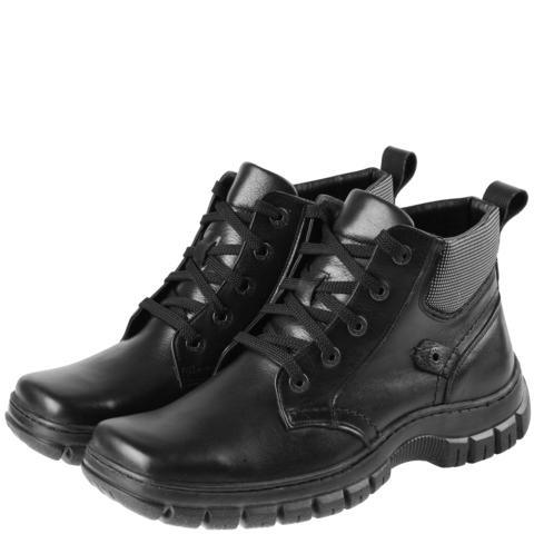 781414 Ботинки мужские черные. КупиРазмер — обувь больших размеров марки Делфино