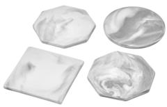 Подставки из керамики для пиал, кружек и стаканов серого цвета