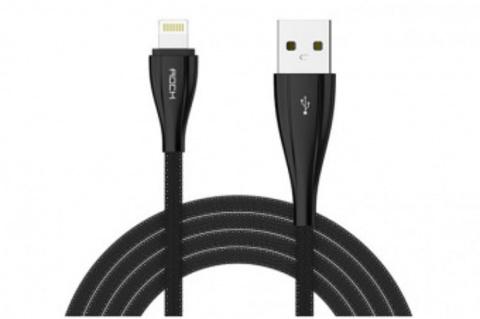 Кабель USB/Lightning Rock Metal Data Cable 1000mm (Black)