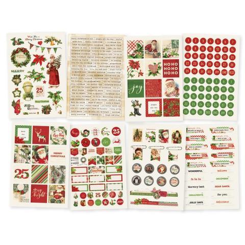 Стикеры Simple Vintage Christmas -  376 шт.