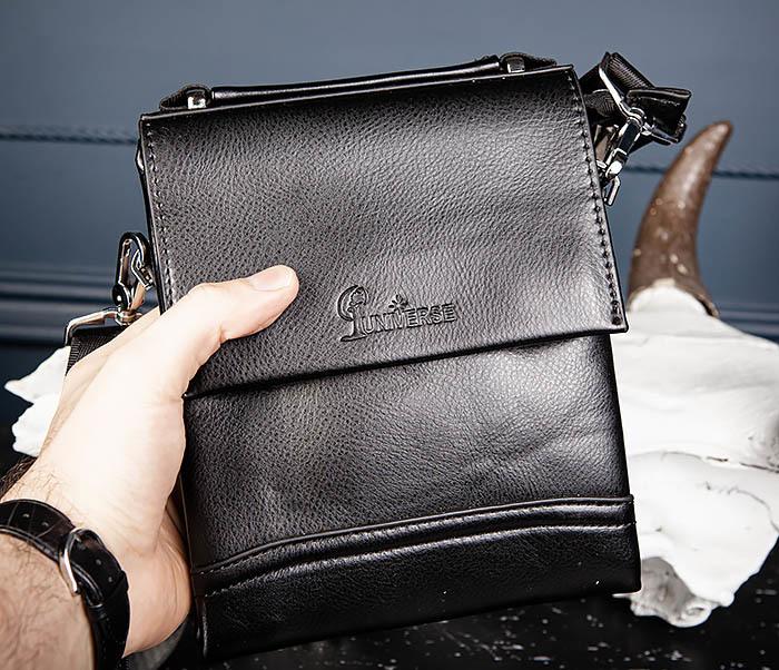 BAG560-1-5 Мужская сумка из кожи с ручкой и ремнем фото 05