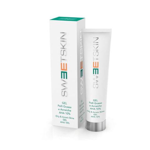SWEET SKIN | Гель для жирной проблемной кожи 10% / Gel Pelli Grasse E Acneiche AHA 10%, (150 мл)