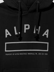 Толстовка Alpha Industries Property Hoodie (Черная)