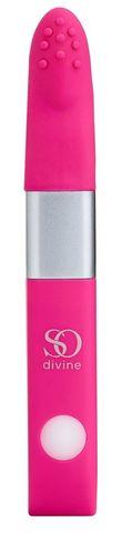 Ярко-розовый вибростимулятор Get Lucky USB Vibrator - 12 см.