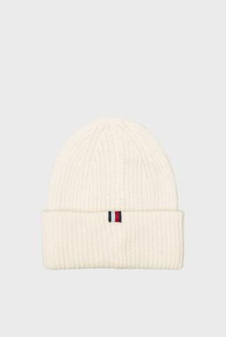 Женская белая шапка EFFORTLESS BEANIE Tommy Hilfiger