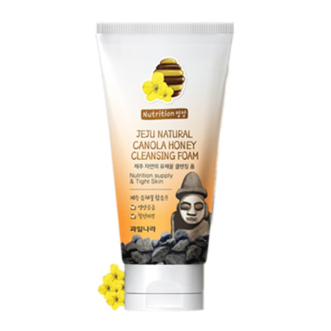 WELCOS Jeju Пенка для умывания Jeju Natural Canola Honey Cleansing Foam 120гр