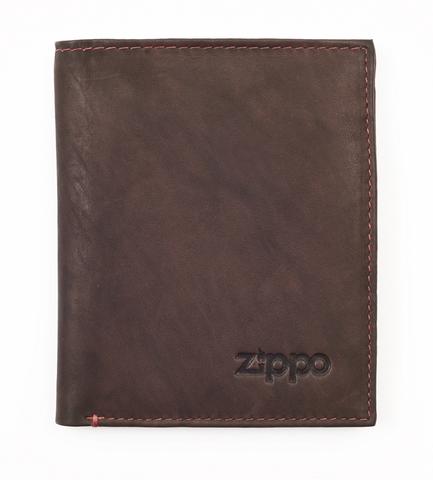 Вертикальное кожаное портмоне ZIPPO 2005122