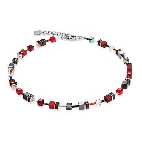 Колье Coeur de Lion 4014/10-0312 цвет красный, серый, черный