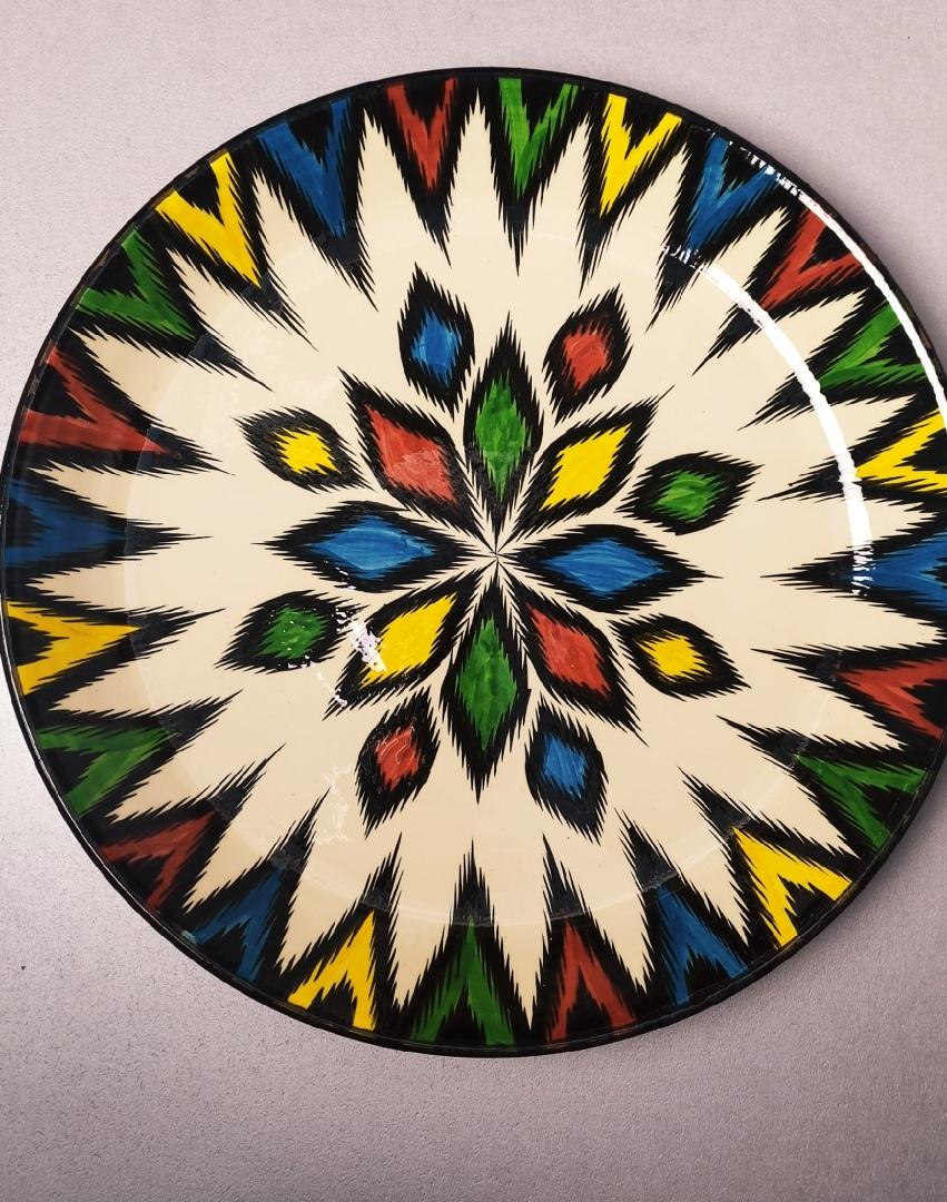 Посуда Ляган узбекский узор разноцветный 42 см HbUps0d49oY.jpg