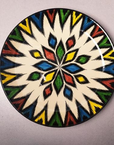 Ляган узбекский узор разноцветный 42 см