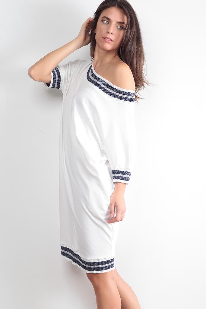 Платье с эластичным люрексом Luna di Giorno