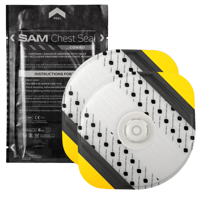 Окклюзионный пластырь SAM Chest Seal COMBO (вентилируемый и невентилируемый)