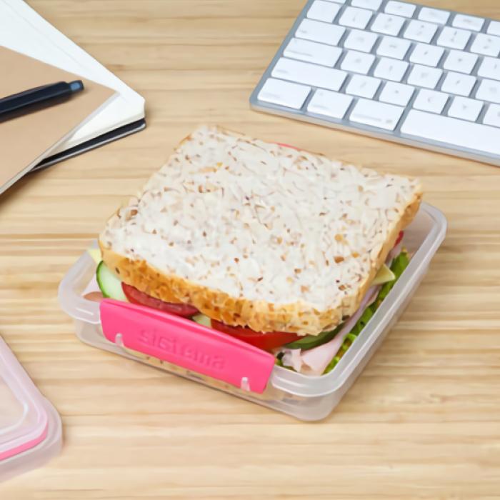 """Контейнер для сэндвичей Sistema """"TO GO"""" 450 мл, цвет Розовый"""