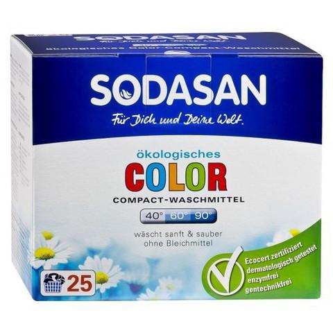 Порошок-концентрат для цветного белья, Sodasan, компакт, 1,2 кг