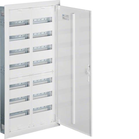 Щиток встраиваемый,секционный,с оснасткой,1100x550x110мм (ВхШхГ),одна дверь,RAL9010