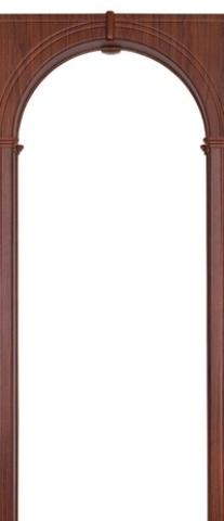 Арка межкомнатная ПВХ Арсенал, Палермо 70, цвет итальянский орех