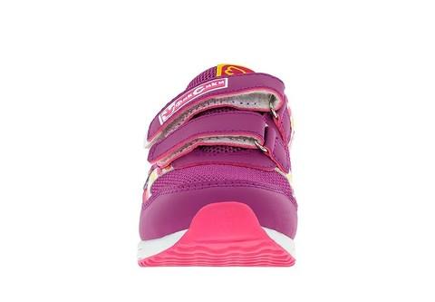 Кроссовки для девочек на липучках Фиксики, цвет сиреневый. Изображение 2 из 5.