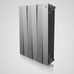 Радиатор биметаллический Royal Thermo PianoForte Silver Satin (серебристый)  - 8 секций