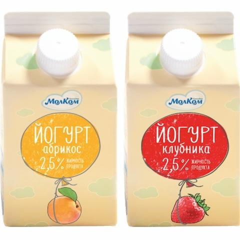 Йогурт питьевой 2,5% 0,5 л т/р Молком КАЗАХСТАН
