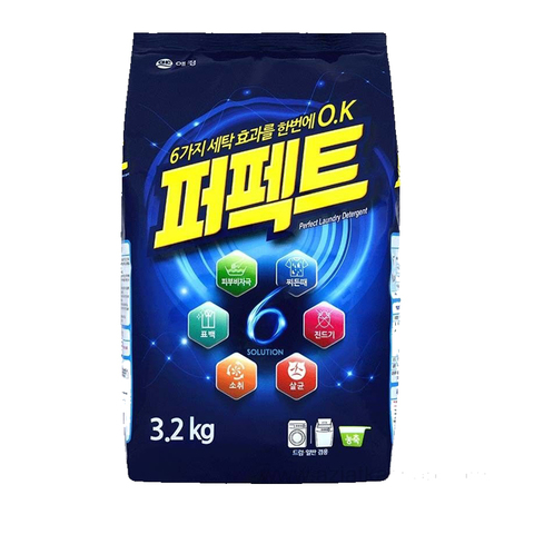 Концентрированный стиральный порошок универсальный Aekyung Perfect 6 Solution 3,2 кг
