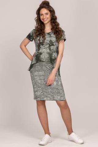 Платье для беременных и кормящих 10429 зеленый