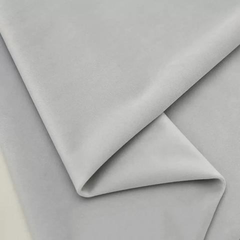 Бархат матовый стрейч, ворс 0,5 мм., светло-серый  (выбрать  размер)