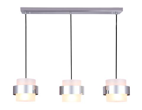 Подвесной светильник со сменной лампой TR3651/3 CH/FR хром/матовый E27/3 max 40W 820*180*700
