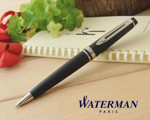 Шариковая ручка Waterman Expert 3, цвет: MattBlack CT, стержень: Mblue123