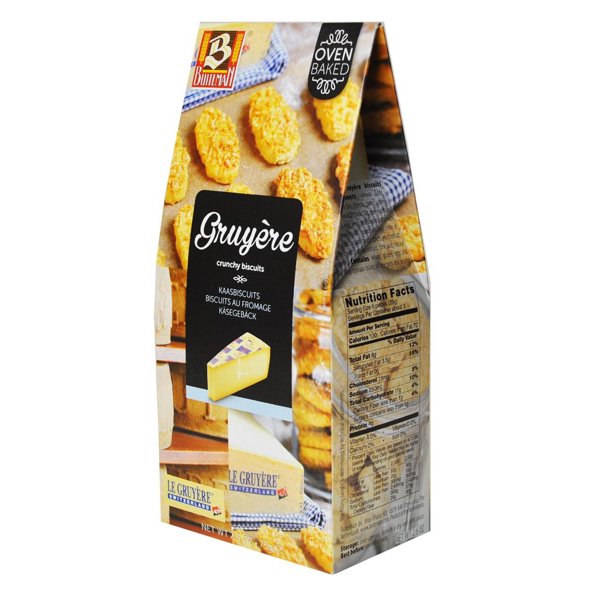 Печенье Buiteman с сыром Грюер