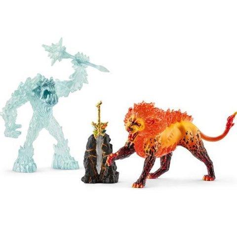 Schleich. Ледяной монстр против огненного льва