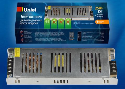 UET-VAS-250A20 12V IP20 Блок питания, 250Вт. Металлический корпус. TM Uniel