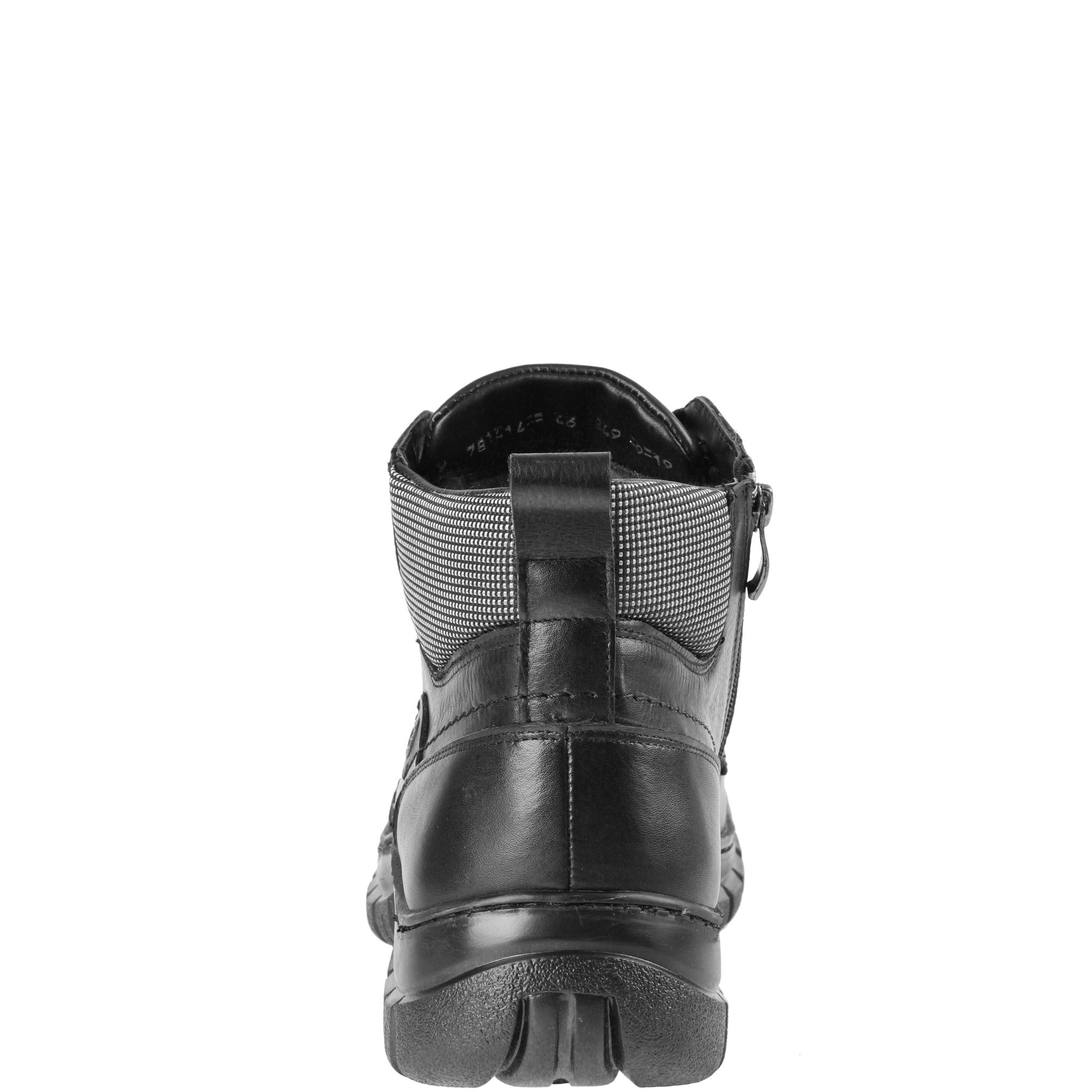 781414 Ботинки мужские черные больших размеров марки Делфино