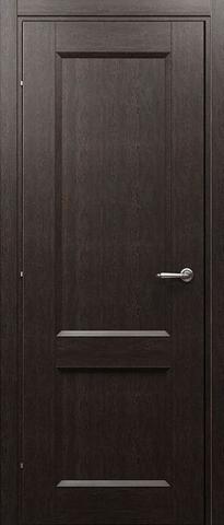 Дверь ДГ 3323 (чёрный дуб, глухая CPL), фабрика Краснодеревщик