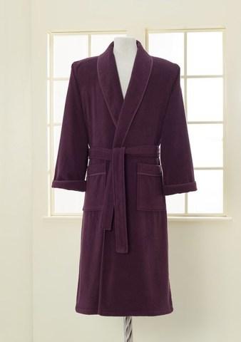 Махровый мужской банный халат LORD фиолетовый