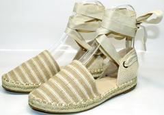 Летние сандали женские Small Swan OM243-4Beige.