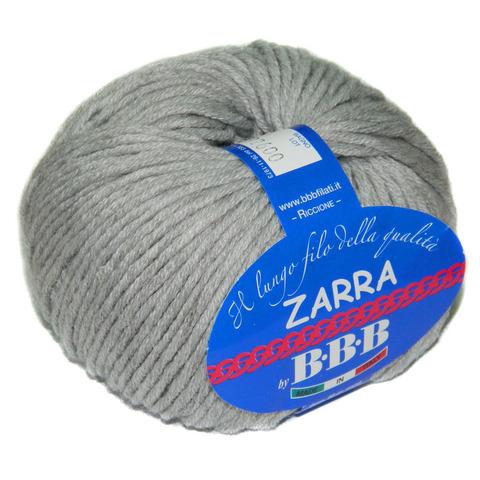 Пряжа BBB Filati Zarra 0302 светло-серый