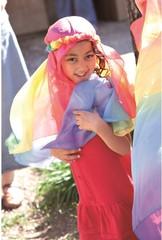 Шёлк игровой 90х90 см красно-фиолетовый (Sarah`s Silks)