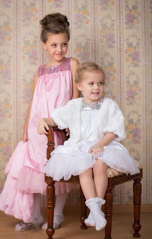 Нарядное платье для девочки (белое)