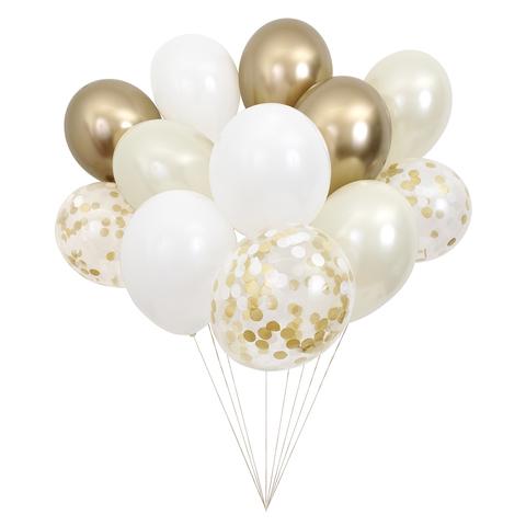 Связка шаров, золотая (в наборе 12 шт)