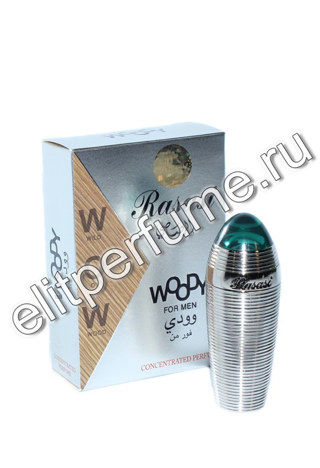 Пробник для Woody For Men / Древесный для мужчин 1 мл арабские мужские масляные духи от Расаси Rasasi Perfumes