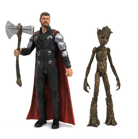 Марвел Селект фигурка Мстители Война бесконечности Тор и Грут