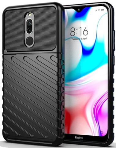 Carbon / Чехол для Xiaomi Redmi 8/8A серия Оникс | черный