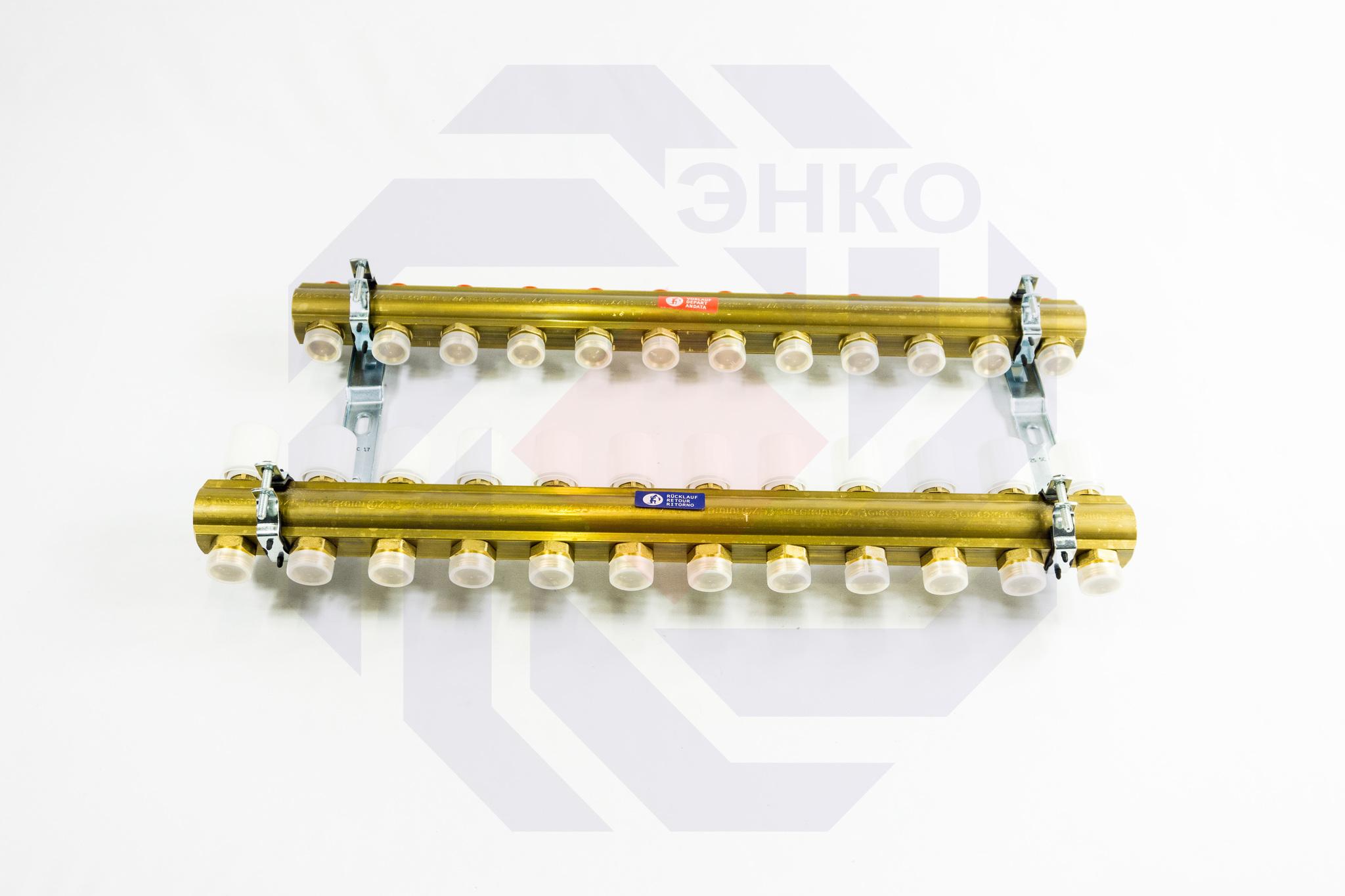 Комплект коллекторов без расходомеров GIACOMINI R553E 12 контуров