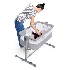 Кроватка приставная Kinderkraft Neste Air Grey Melange