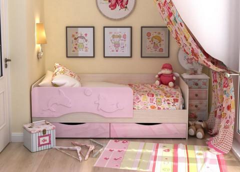 Детская кровать с ящиками Дельфин (Алиса) КР-811 1400х800