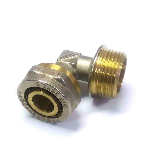 Угол обжимной для металлопластиковых труб 20*3/4 наружная резьба Valve