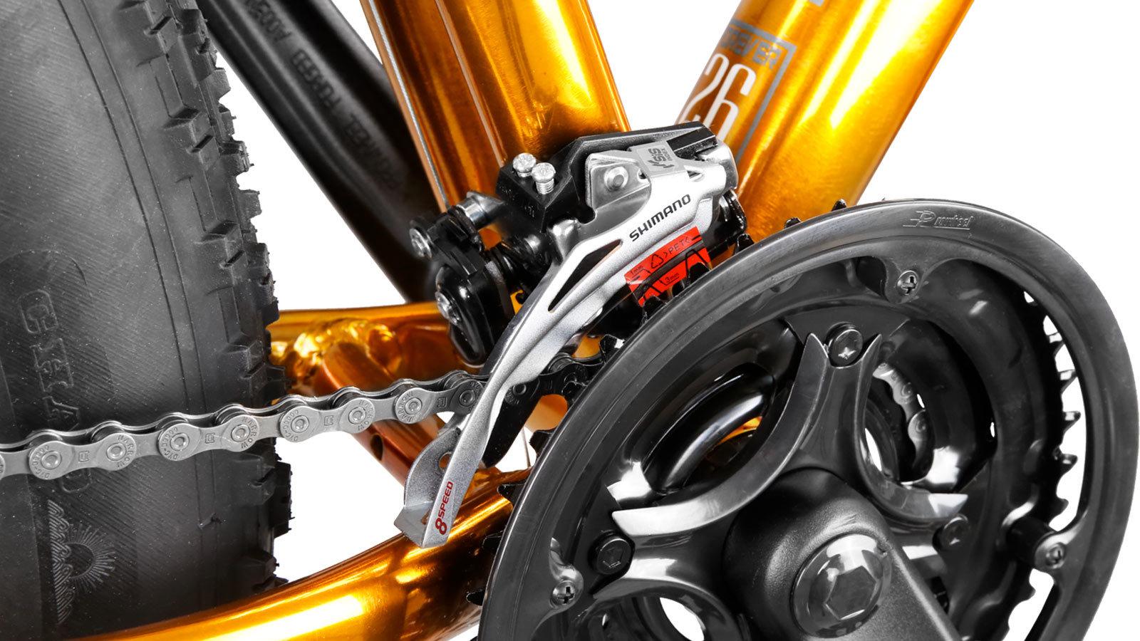 передняя звездочка горного велосипеда fat bike